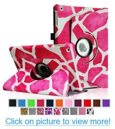 Fintie Apple iPad Air Case - 360 Degree Rotating Stand Leather Case Cover with Auto Sleep / Wake Feature for iPad Air / iPad 5 (5th Generation) - Giraffe Pink