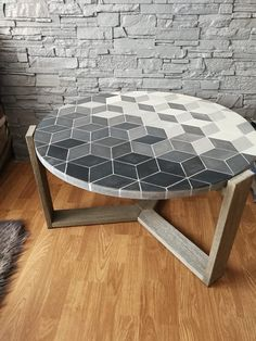 Mosaic Indoor Concrete Table | eBay Concrete Table, Diys, Mosaic, Indoor, Contemporary, Coffee, Ebay, Furniture, Home Decor
