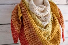 10 free #crochet shawl patterns on Craftsy - granny crochet shawl