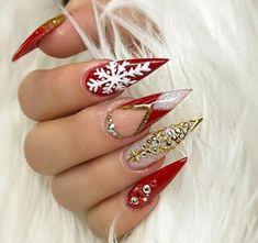 Snowflake nail design, snowflake nails, christmas nail designs, christmas n Cute Christmas Nails, Xmas Nails, Holiday Nails, Simple Christmas, Christmas Holiday, Snowflake Nail Design, Christmas Nail Art Designs, Snowflake Nails, Christmas Design