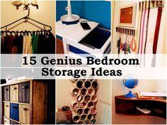 15 Genius Bedroom Storage Ideas @ homemadehomeideas.com