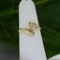 Yellow Gold Marquise Diamond Engagement Promise Ring – MoneyMan Pawn