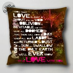 the fault in our stars pillow case, cushion cover ( 1 or 2 Side Print With Size 16, 18, 20, 26, 30, 36 inch )