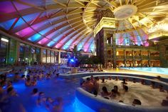 Night Splash - party at the spa, Aqua-World, Budapest
