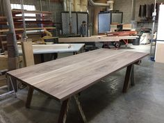 "A 2"" thick 5' x 10' solid walnut table top, just fabricated. The client is finishing this themselves. Nice bit of wood. ‪#‎woodworking‬ ‪#‎carpentry‬ ‪#‎walnut‬ ‪#‎handcrafted‬ ‪#‎furniture‬ ‪#‎home‬"