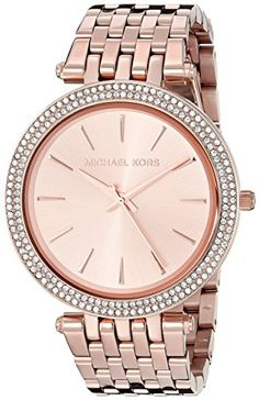 Michael Kors Women's Quartz Watch with Rose Gold Dial Analogue Display and Rose Gold Stainless Steel Strap MK3192  Discount from Β£249 To Β£129,36