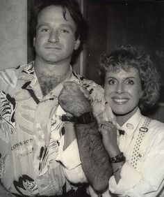 Robin Williams with Mary Glenn Lassiter at Z-93 (1985) on The Randy Miller Morning Show