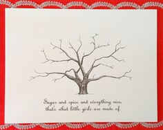 Baby Thumbprint Tree Guestbook Poster Baby Shower by theinklab