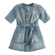 J.Crew  Girls' denim henley dress