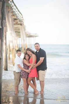 The Medlin Family–OBX–Eastern NC Photographer/Outer Banks,NC Family Photographer, Posing for family of 4, Family Beach pictures, Katie Myrick Photography, OBX