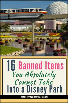 16 Things that won't make it past security at Disney What is banned at Disney? Disney does have a short list of banned items and behaviors in their parks. Here is the list and a few reasons behind most of them Disney World Tips And Tricks, Disney Tips, Disney Disney, Disney Travel, Walt Disney World Vacations, Disney World Resorts, Disney Parks, Epcot, Hollywood Studios Disney