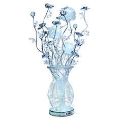 60 LED Chrome and Crystal Vase Floor Light
