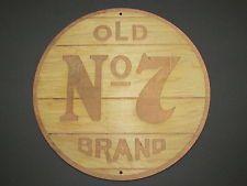 Jack Daniels Old No 7 Wood Sign barrel top end style