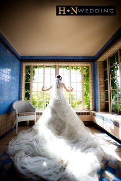 Wedding Dress, Hycroft Manor, Tulle, Long train