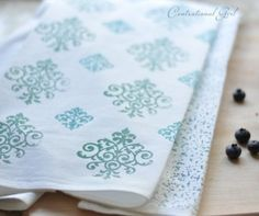 One of our Top 10 DIY Mother's Day gift ideas - a stamped tea towel
