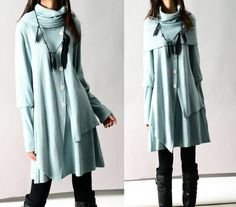 Fruit of Summer - poncho collared layered woolen dress (Q3101)      The fruit of the summer  Brews a lonely scent from the memory       ~~~~~~~~~~~...