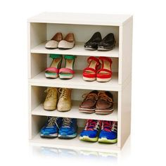 Way Basics Florence Storage Blox Eco-Friendly Modular Shelving, Multiple Colors, White