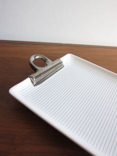 Ceramic Notepad Tray / Optical Illusion in White by ModernSquirrel, $39.00