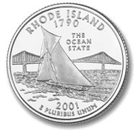 Rhode Island Quarter - The Ocean State Narragansett Bay, State Quarters, U.s. States, United States, Newport Rhode Island, Block Island, Old Coins, Rare Coins, Coin Collecting