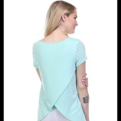 Adorable tulip back tee shirt NWOT Brand new tulip back tee shirt by Wasabi & Mint. Cotton spandex blend. Great fit. I have black only. Size small, medium & large. Please too not buy this listing. Tell me what size you want and I will make a listing for you. Thank you  Wasabi Mint Tops Tees - Short Sleeve