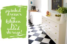 Ikea Tarva dresser for the kitchen