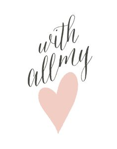 With All My Heart Wall Art Prints by guess what? | Minted