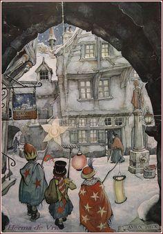 Reyes Magos - Ilustración Anton Pieck.