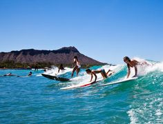 New to surfing? Check out Oahu's Waikiki Beach Activities surf school, and become a pro in no time. #Oahu
