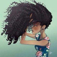 Love this Natural Hair (Art) Natural Hair Art, Pelo Natural, Natural Hair Styles, Natural Curls, Natural Life, Black Girl Art, Black Women Art, Art Girl, Black Girls