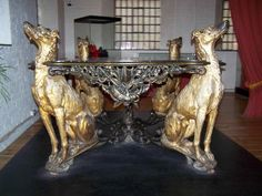 Deerhound Table Made for the Paris Exhibition, this table can be found in The Museum of Iron in Ironbridge
