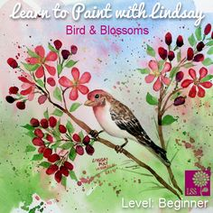 Learn to Paint Bird and Blossoms