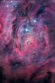 """thedemon-hauntedworld: """" M8: The Lagoon Nebula This beautiful cosmic cloud is a…"""