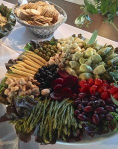 Marinated Vegetable Platter - Catering by Debbi Covington - Beaufort SC Veggie Platters, Veggie Tray, Vegetable Sides, Vegetable Recipes, Vegetable Salad, Veggie Display, Catering Food Displays, Marinated Vegetables, Relish Trays