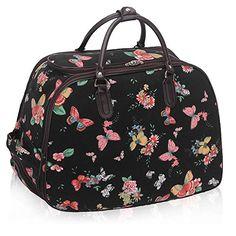 LIGHTWEIGHT Ladies (High Quality Fashion) Travel Bags Holdall Hand ...
