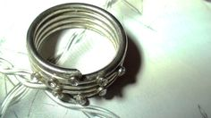 Size 6 1/2 Coil 4 Bands and Cz Crystals  by VINTAGEARTJEWELRY, $12.00