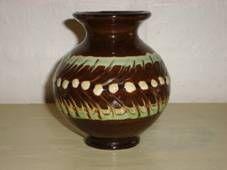 Kähler (Herman A. Kähler) vase. H: 11,5 cm D: 10,5 cm from  1950s. Signed HAK. #kahler #ceramics #pottery #hak #dansk #keramik #vase #danish. SOLGT/SOLD.