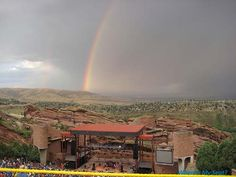 Rainbow over Red Rocks Amphitheatre