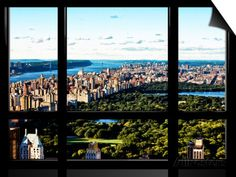 Window View, Special Series, Central Park and Upper Manhattan Views, New York Prints by Philippe Hugonnard at AllPosters.com