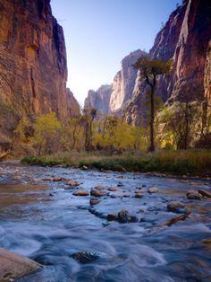 the narrows zion national park utah - hiking trip