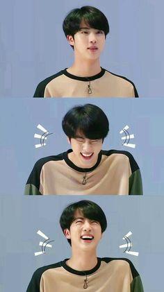 JIN    Kim Soekjin    When he laughs he look very handsome