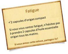 huile essentielle origan et fatigue