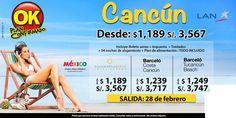 Cancun desde $1189!! reserva ya! salida 28 de Febrero contactanos a gerencia@alereperutravel.com