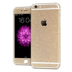 'All Blinged Out' Full Body Protective Glitter Decal Phone Skin (Champagne)
