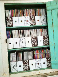 Magazine storage.