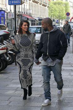 Kim Kardashian out with Kanye West in Paris