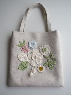 Embroidery Purse, Ribbon Embroidery, Rustic Fabric, Jute Bags, Craft Bags, Patchwork Bags, Denim Bag, Fabric Bags, Crochet Accessories
