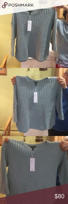 Eileen Fisher NWT sweater Eilleen Fisher sea foam green boxed stich. I bought it on Poshmark for my mother but it was too small . It is NWT. It's in very good shape. Would fit a four, a little tight on a six Eileen Fisher Sweaters Crew & Scoop Necks
