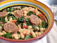 sausage & kale cassoulet - Budget Bytes