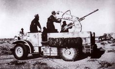 Chevrolet CMP 15 CWT captured by italians with Breda 20mm gun, North Africa WW2, pin by Paolo Marzioli
