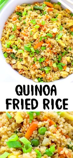 Easy Quinoa Fried Rice – simple to make side dish, combining quinoa with some awesome Asian flavors. Easy Quinoa Fried Rice – simple to make side dish, combining quinoa with some awesome Asian flavors. Quinoa Recipes Easy, Rice Recipes For Dinner, Vegetarian Recipes, Cooking Recipes, Healthy Recipes, Avocado Recipes, Slow Cooking, Side Dish Recipes, Cooking Tips